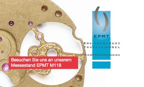 Microwaterjet ist mit einem eigenen Stand M118 an der Mikromesse EPHJ-EPMT